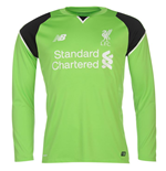 2016-2017 Liverpool Home Long Sleeve Goalkeeper Shirt (Green)