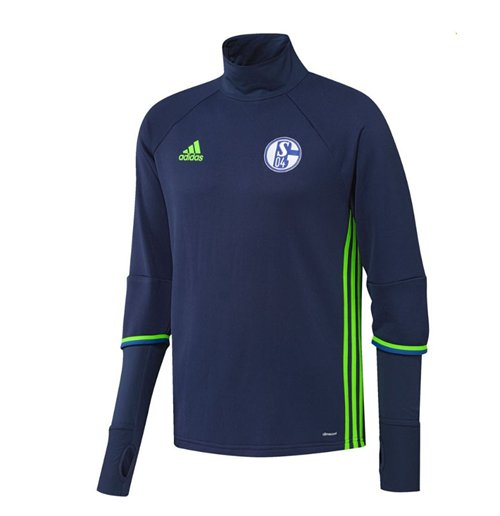 2016-2017 Schalke Adidas Training Top (Dark Blue)