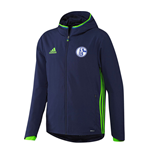 2016-2017 Schalke Adidas Presentation Jacket (Dark Blue)