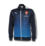 2016 Arsenal Puma Stadium Jacket (Black Iris)