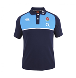 2016-2017 England Rugby Cotton Training Polo Shirt (Peacot)