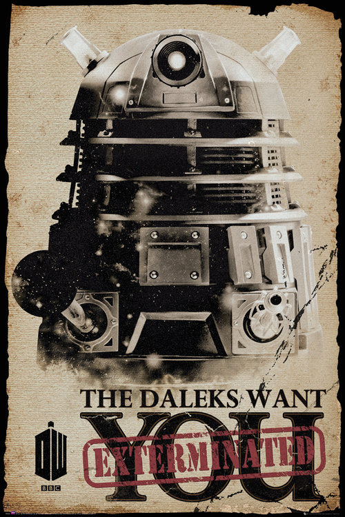 Doctor Who Daleks Want You Maxi Poster