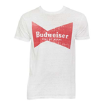 Men's BUDWEISER Bowtie White T-Shirt