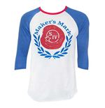 Men's MAKER'S MARK Laurel Blue Baseball T-Shirt