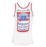 Men's White BUDWEISER Big Can Tank Top
