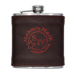 MAKER'S MARK Brown Leather Flask