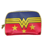Wonder Woman Logo and Stars Make Up Bag