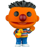 Sesame Street POP! TV Vinyl Figure Ernie (Flocked) 9 cm