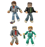 Back to the Future Minimates Action Figures 5 cm 30th Anniversary 1985 Box Set