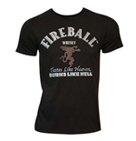 Men's Fireball Black Text Label T-Shirt