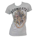 Women's HARRY POTTER Hogwarts Grey T-Shirt