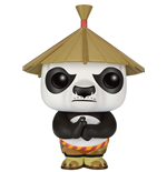 Kung Fu Panda POP! Movies Vinyl Figure Po In Hat 9 cm