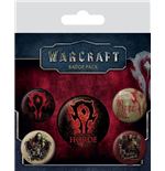 Warcraft Pin Badges 5-Pack The Horde