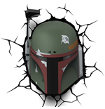 Star Wars 3D LED Light Boba Fett