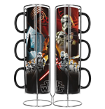 Star Wars Episode VII Stackable Mugs Set Black First Order Exclusive