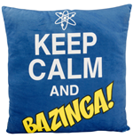 The Big Bang Theory Plush Cushion Keep Calm and Bazinga 40 x 40 cm