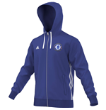 2016-2017 Chelsea Adidas 3S Hooded Zip (Blue)