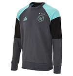 2016-2017 Ajax Adidas Sweat Top (Bold Onix)