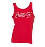Men's BUDWEISER Red Tank Top