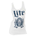 MILLER Lite Women's White Tank Top