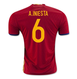 2016-2017 Spain Home Shirt (A.Iniesta 6) - Kids