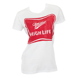 MILLER High Life Women's White Tee Shirt