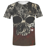 The Walking Dead T-shirt - Walkers Skull Full Printed