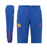 2016-2017 Man Utd Adidas 3S Pants (Royal Blue)