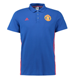2016-2017 Man Utd Adidas 3S Polo Shirt (Royal Blue)