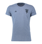 2016-2017 Man Utd Adidas Devil Graphic Tee (Shade Grey)