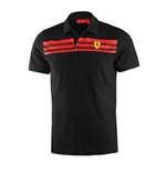 Ferrari Mens Black Polo shirt
