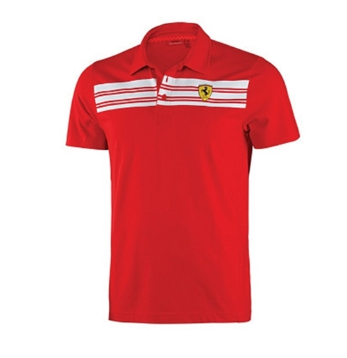 Ferrari Mens Red Polo shirt