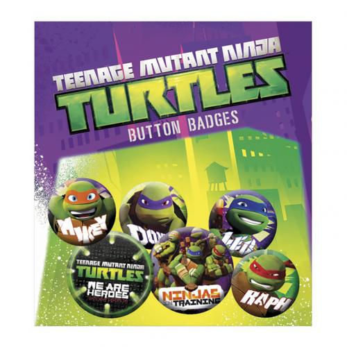 Teenage Mutant Ninja Turtles Button Badge Set