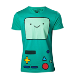 ADVENTURE TIME Beemo Games Console T-Shirt, Extra Large, Turquoise