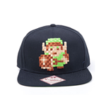 NINTENDO Legend of Zelda Pixelated Link Snapback Baseball Cap, Black