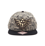 NINTENDO Legend of Zelda Royal Crest Logo with Storyboard Background Snapback Baseball Cap, Multi-Colour