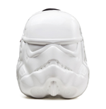 STAR WARS Unisex Shaped Stormtrooper Mask Backpack, One Size, White/Black