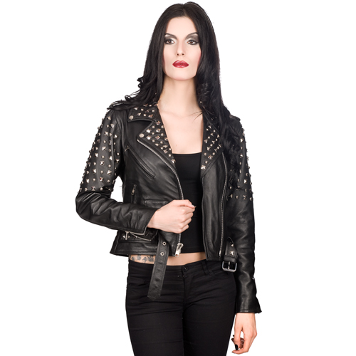 Mode Wichtig Ladys Rockstar Jacket Nappa Leather