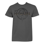 MILLER High Life Grey The Life Tee Shirt
