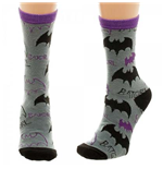 BATMAN Batgirl Logo Tossed Print Juniors Crew Socks