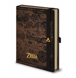 Legend of Zelda Premium Notebook A5 Hyrule Map