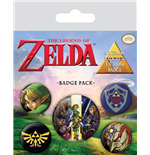 The Legend of Zelda Pin Badges 5-Pack Link