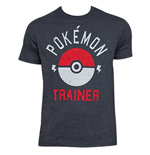 POKEMON Heather Grey Trainer Tee Shirt