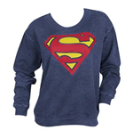 SUPERMAN Classic Logo Juniors Sweatshirt