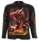 Awake The Dragon - Longsleeve T-Shirt Black