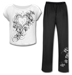 Pure Of Heart - 4pc Gothic Pyjama Set