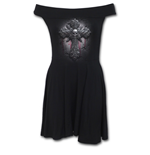 Crucifix - Bardot Neck Skater Dress