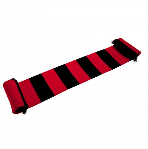 Red and Black Bar Scarf