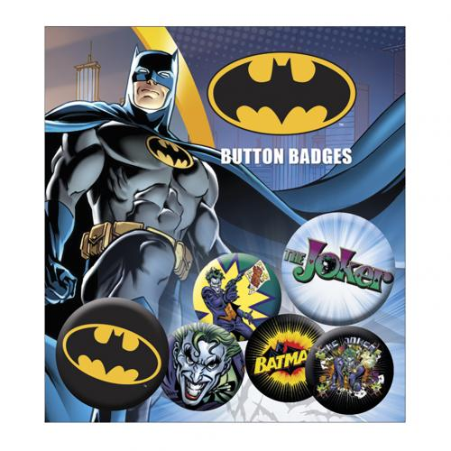 Batman Button Badge Set