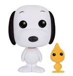 Peanuts POP! Animation Vinyl Figure Snoopy & Woodstock (Flocked) 9 cm